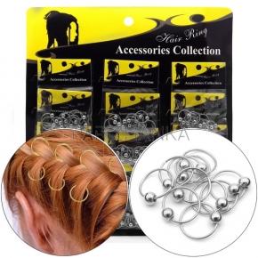 Кольца для волос с шариком