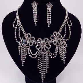 Свадебный набор (ожерелье+серьги)
