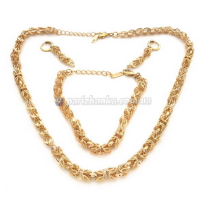 Набор: цепочка, браслет, серьги (Xuping)