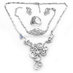 Набор: колье, браслет, серьги, кольцо (Xuping)